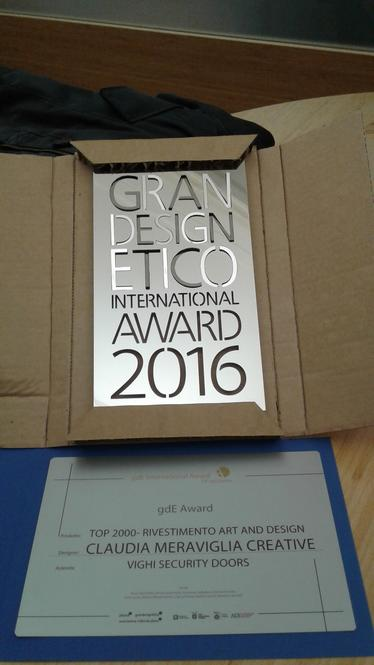 VIGHI Security Doors premiata alla 14a edizione digrandesignEtico International Award