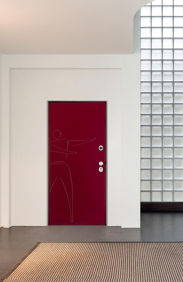 Vighi security doors, single or double leaf, with cylinder, double