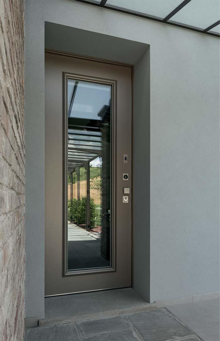 Rivestimenti per porte blindate vighi vetri e specchiature for Porte di sicurezza